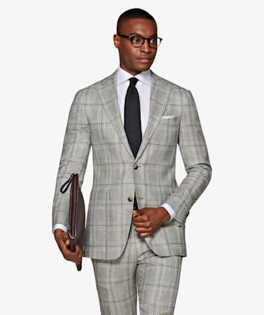 Light Grey Check Havana Suit