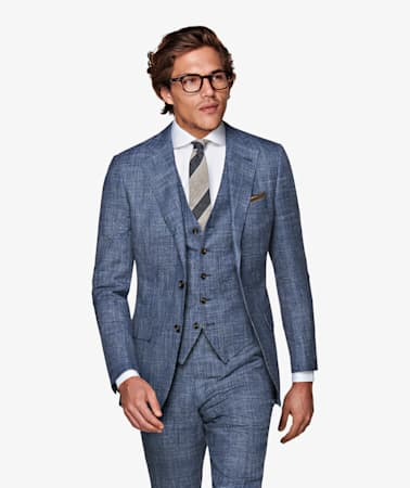 Lazio Blue Check Suit