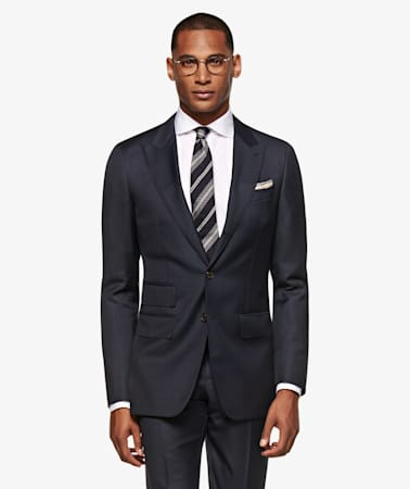 Suit_Navy_Check_Washington_P5750I