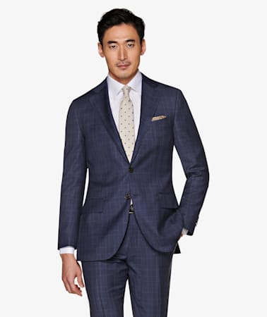 Lazio Mid Blue Check Suit