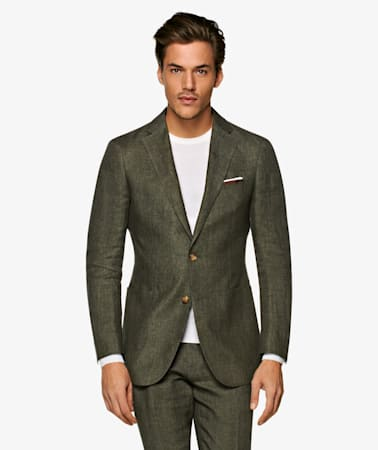 Dark Green Havana Suit
