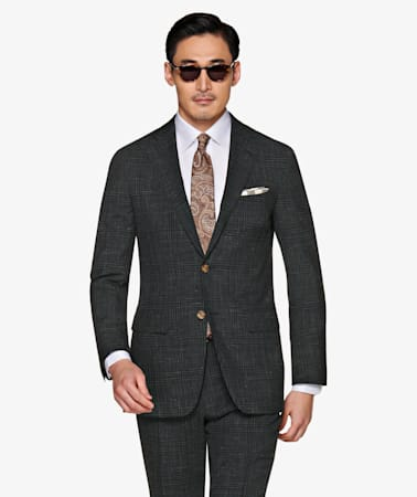 Suit_Dark_Green_Check_Havana_P5766I