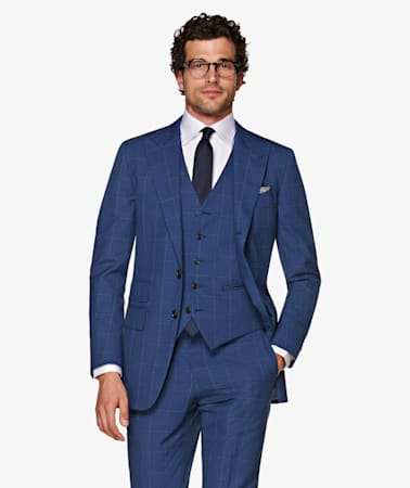 Washington Blue Check Suit