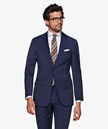 Navy Stripe Napoli Suit