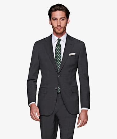 Napoli Dark Grey Houndstooth Suit