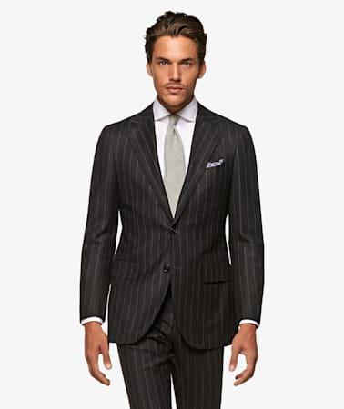 La Spalla Grey Stripe Suit