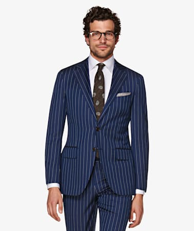 La Spalla Navy Stripe Suit
