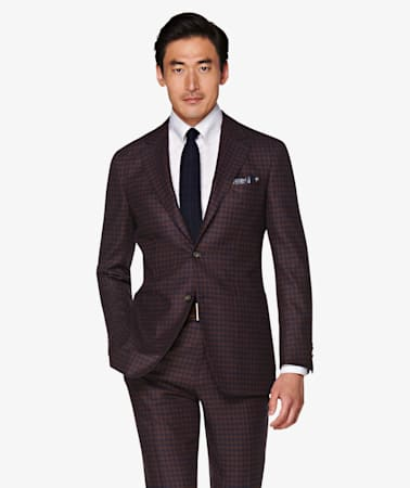 Havana Red Houndstooth Suit