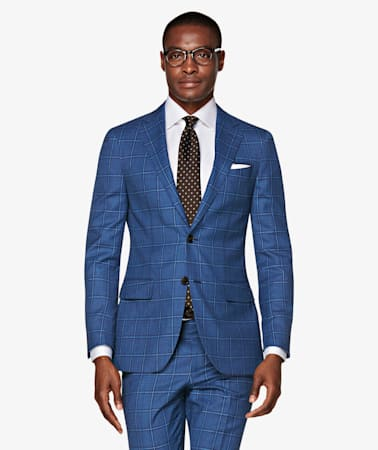 Sienna Mid Blue Check Suit