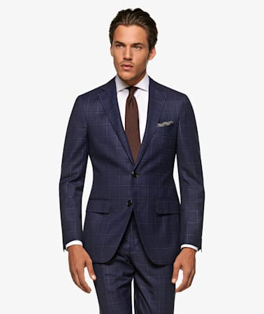 Sienna Navy Check Suit