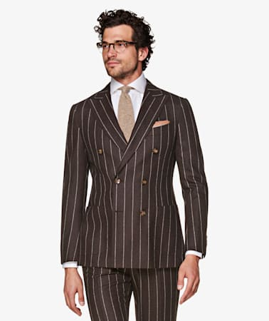 Havana Brown Stripe Suit