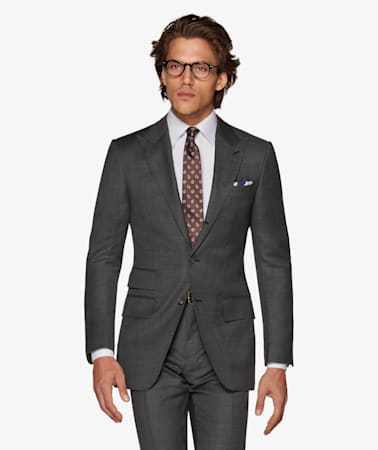 Washington Grey plain Suit
