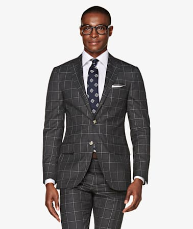 Sienna Grey Check Suit