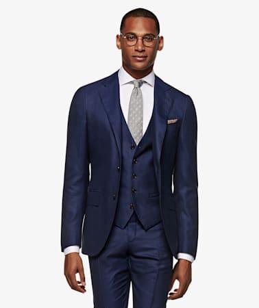 Blue Bird's Eye Jort Suit