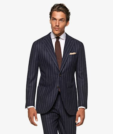 Jort Navy Stripe Suit