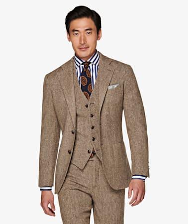 Jort Brown Herringbone Suit