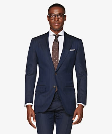 Washington Navy Herringbone Suit