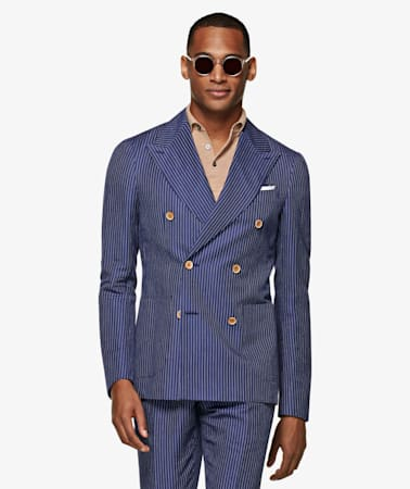 Mid Blue Stripe Havana Suit