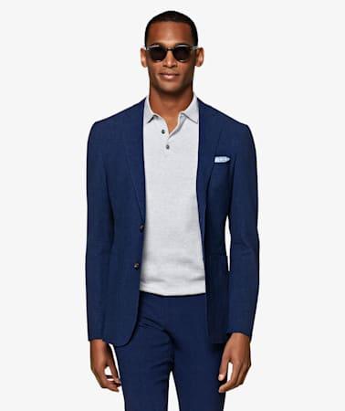 Navy Houndstooth Havana Suit