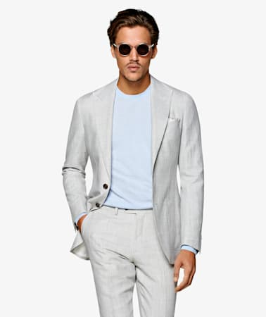 Havana Light Grey Houndstooth Suit