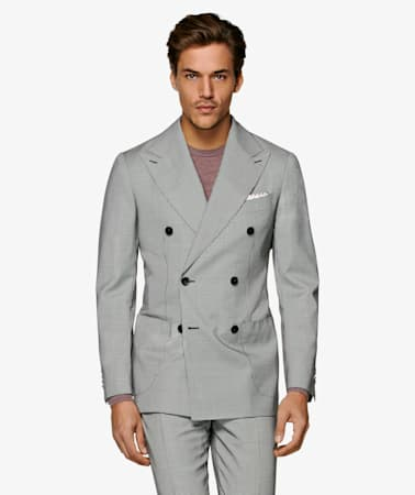 Havana Mid Grey Houndstooth Suit