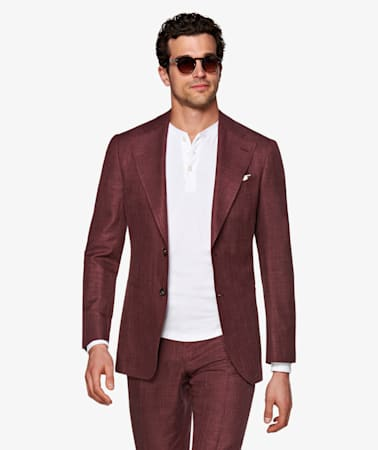 Havana Burgundy Suit