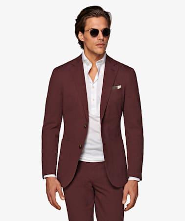 Burgundy Havana Suit