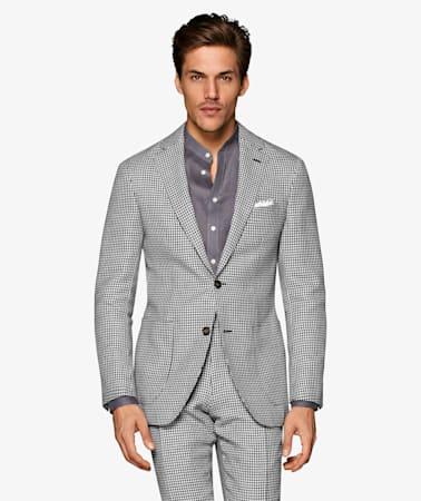 Light Grey Houndstooth Havana Suit