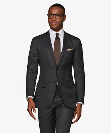 Lazio Mid Grey Stripe Suit