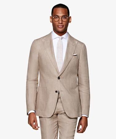 Light Brown Houndstooth Havana Suit