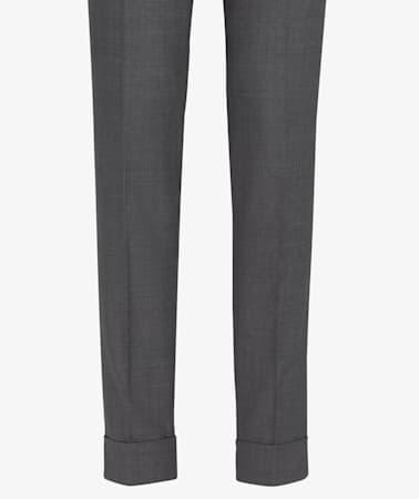Grey Pleated Bolzano Trousers