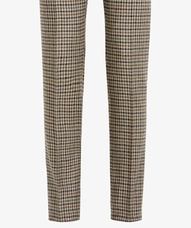 Brown Pleated Brentwood Trousers