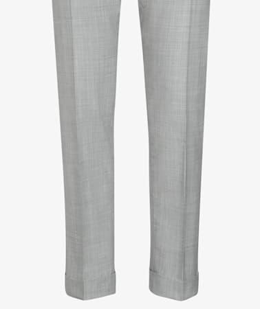 Light Grey Fishtail Bolton Trousers
