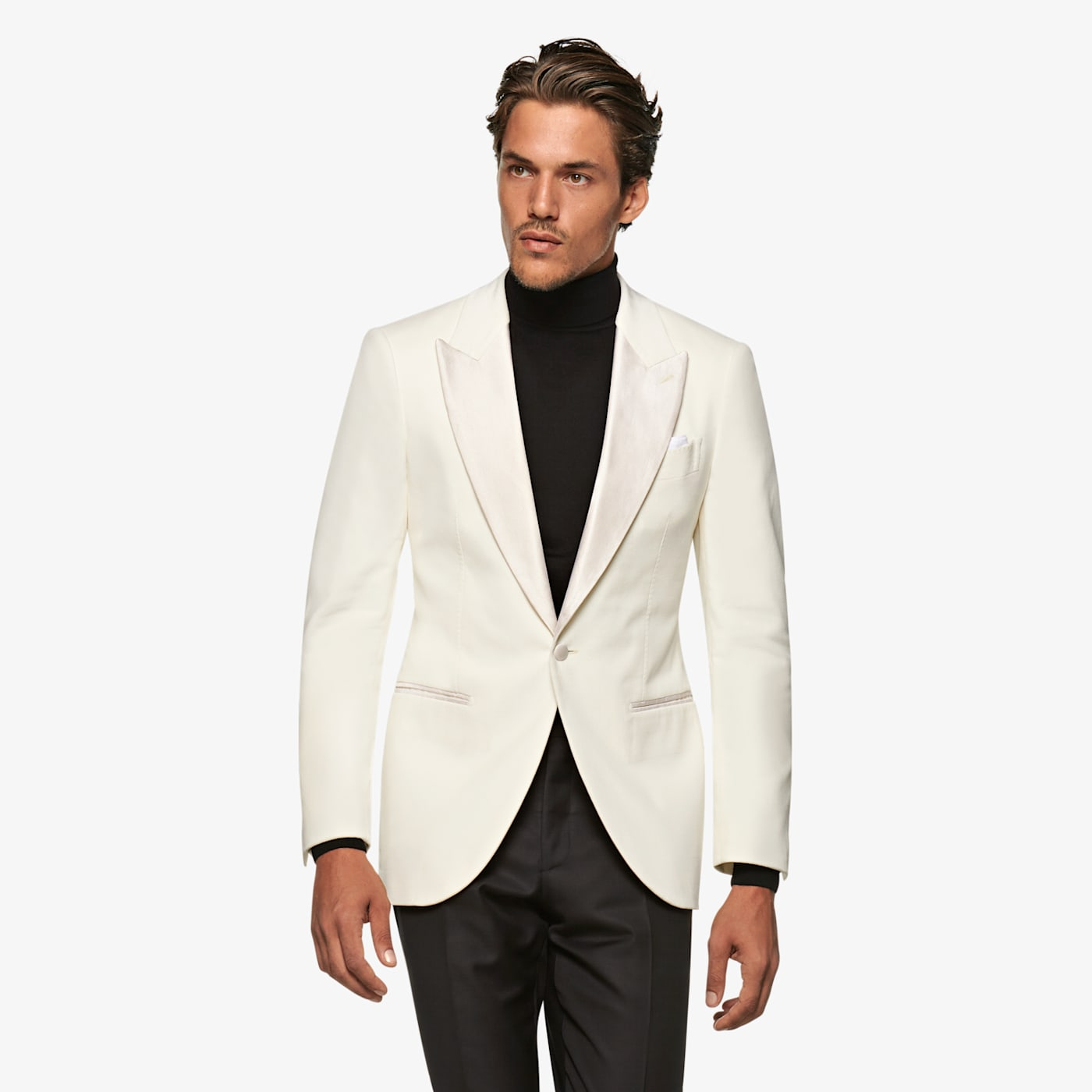 Men's Vintage Style Suits, Classic Suits Off White Lazio Jacket $399.00 AT vintagedancer.com