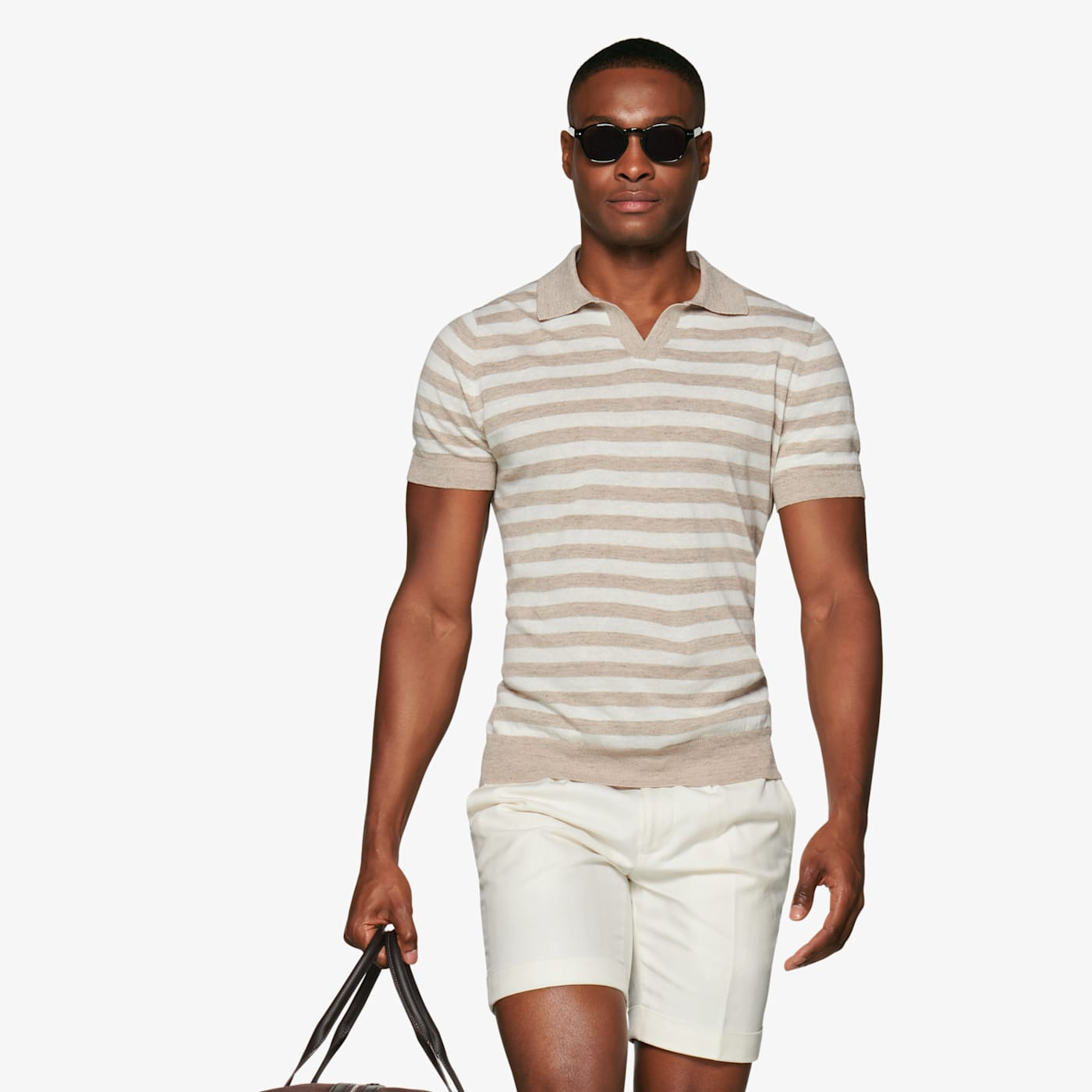 Mens Vintage Shirts – Casual, Dress, T-shirts, Polos Sand Stripe Polo $79.00 AT vintagedancer.com