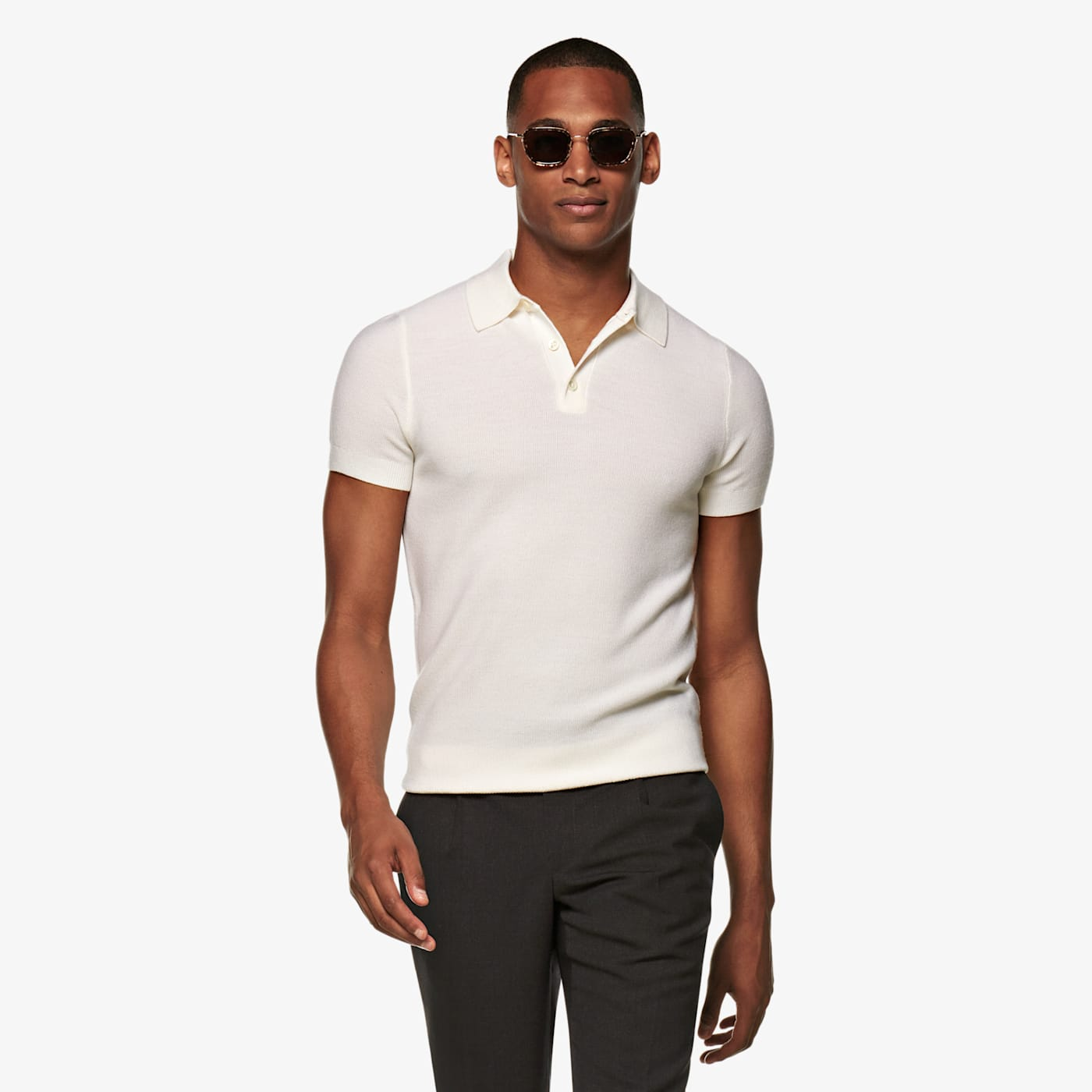 Mens Vintage Shirts – Casual, Dress, T-shirts, Polos Off White Polo $89.00 AT vintagedancer.com