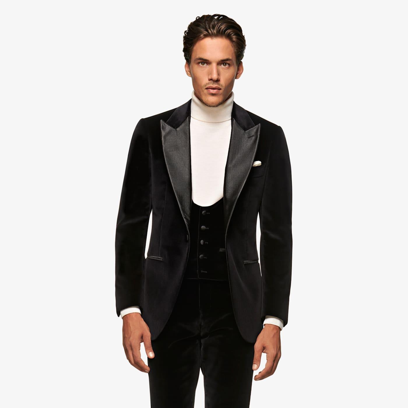 New Vintage Tuxedos, Tailcoats, Morning Suits, Dinner Jackets Black Lazio Tuxedo Suit $699.00 AT vintagedancer.com