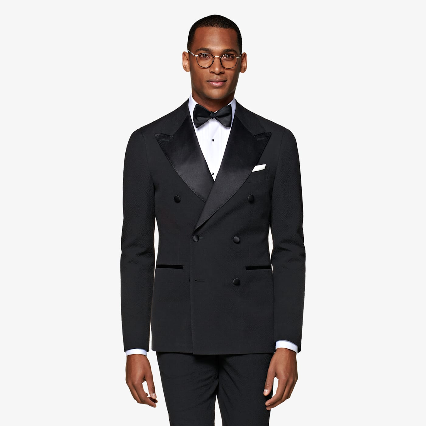 Edwardian Men's Formal Wear Black Havana Tuxedo Suit $599.00 AT vintagedancer.com