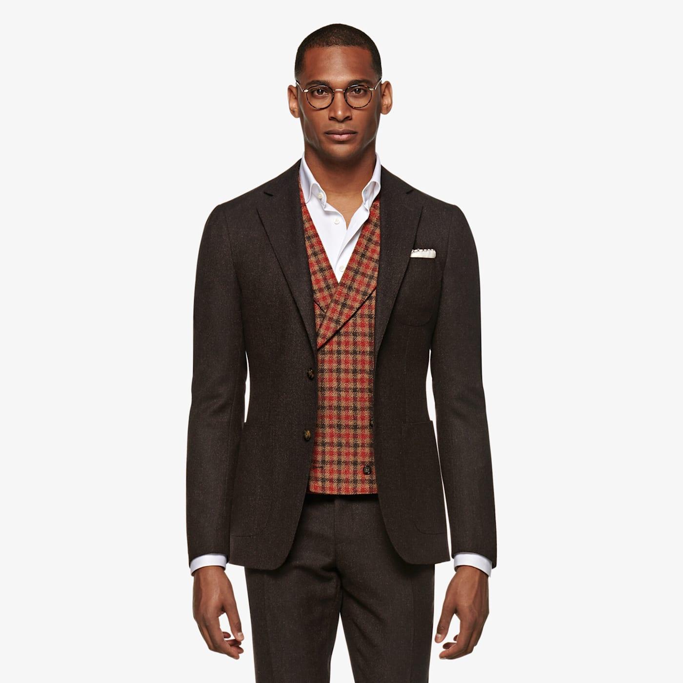 Men's Vintage Vests, Sweater Vests Red Waistcoat $189.00 AT vintagedancer.com