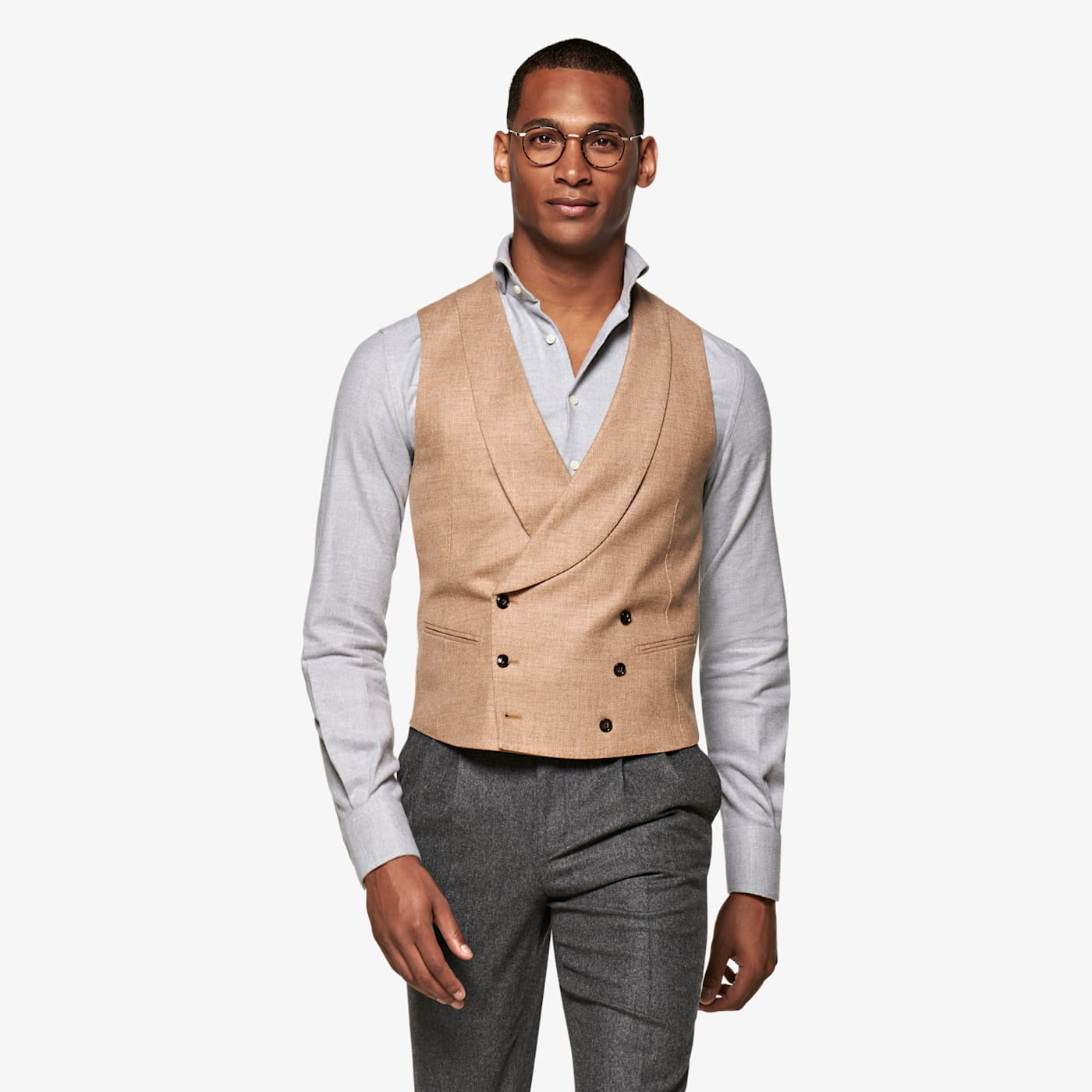 Edwardian Titanic Men's Formal Tuxedo Guide Light Brown Waistcoat $139.00 AT vintagedancer.com
