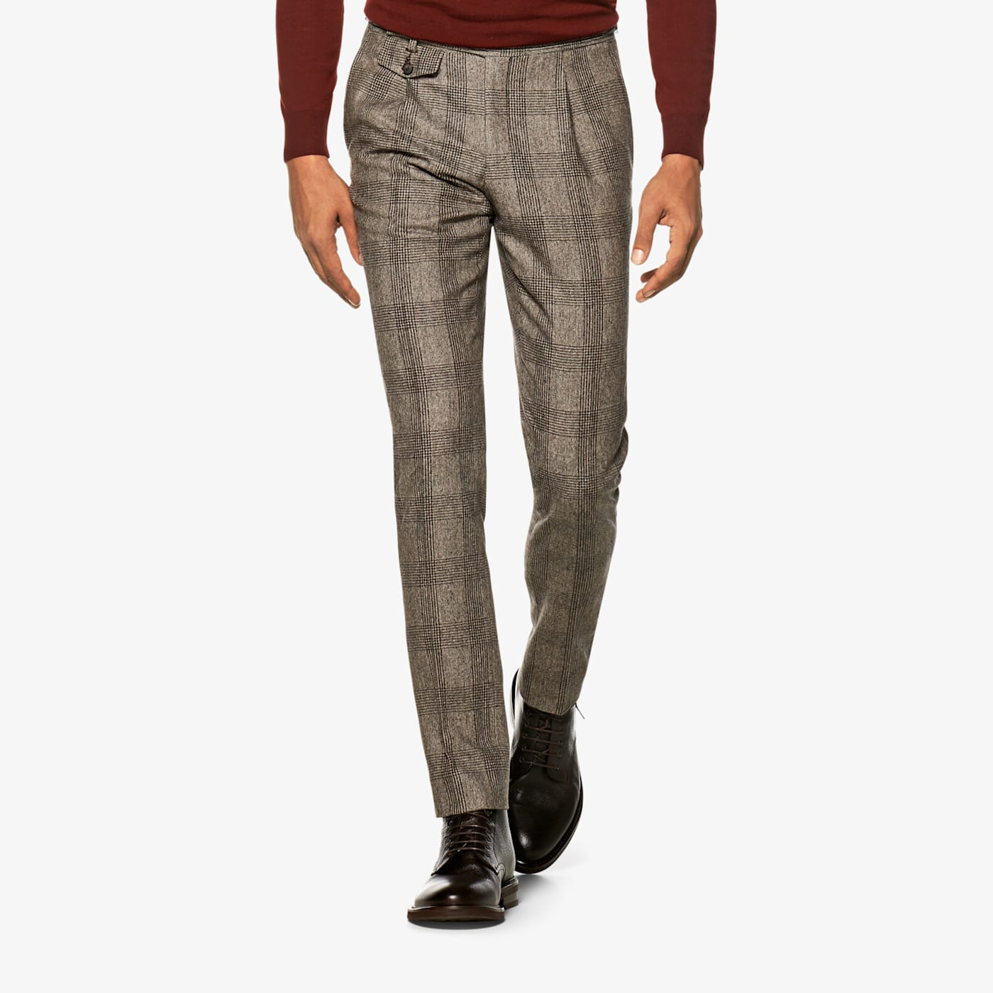 60s – 70s Mens Bell Bottom Jeans, Flares, Disco Pants Mid Brown Pleated Brentwood Trousers $209.00 AT vintagedancer.com