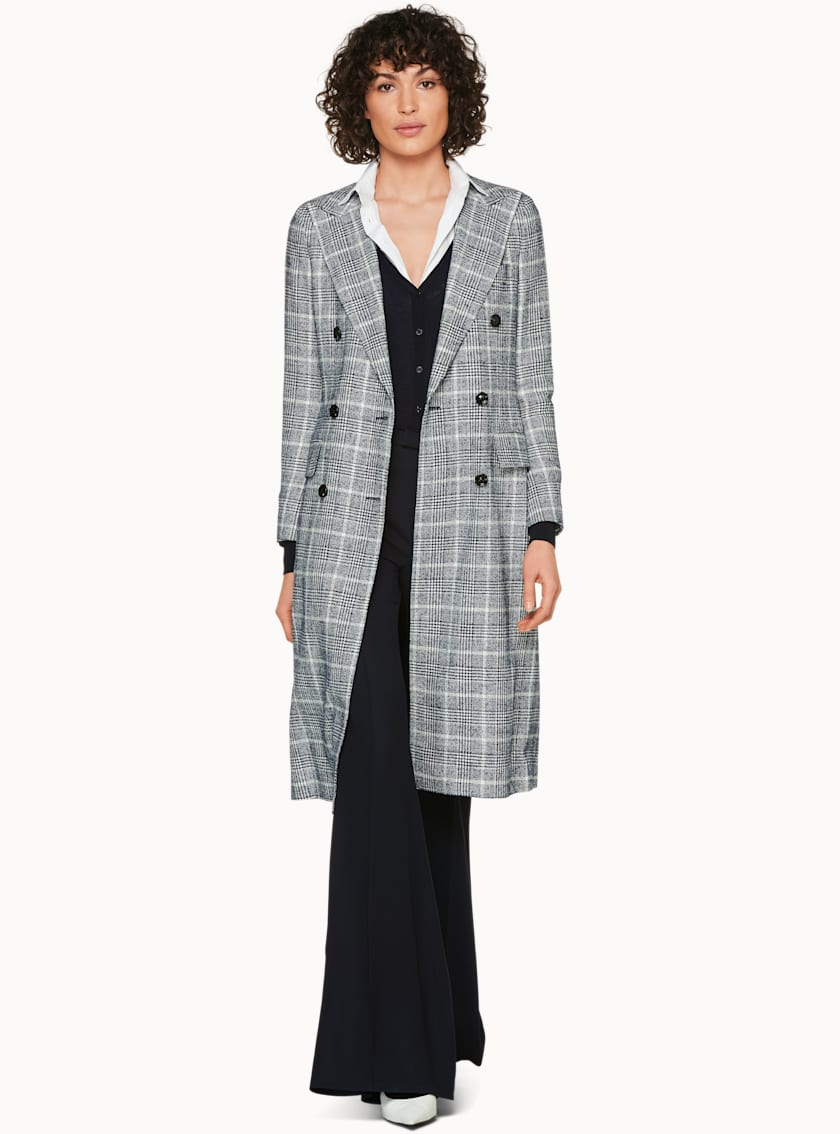 Brian Blue Checked Coat