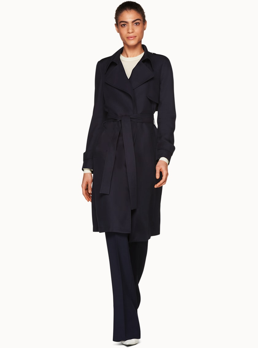 Quin Navy  Trench Coat