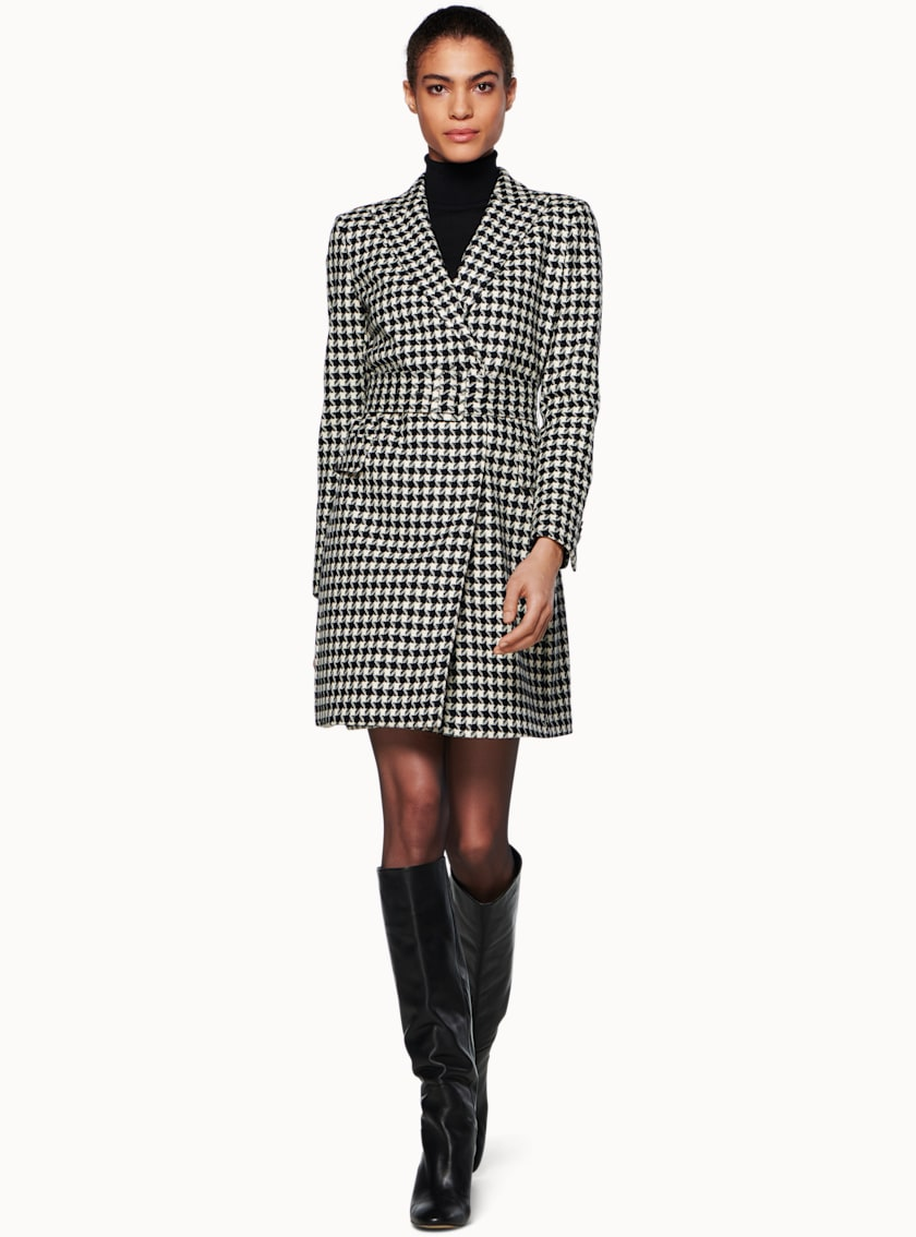 Connor Black & White Houndstooth Dress