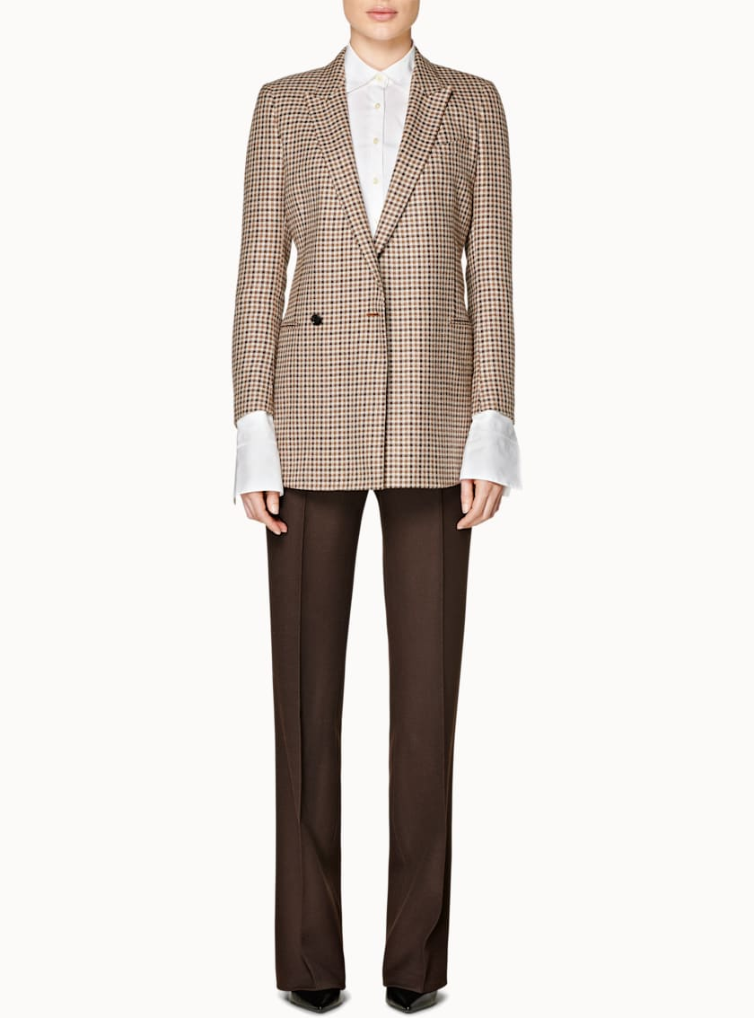 Tory Brown Checked Jacket