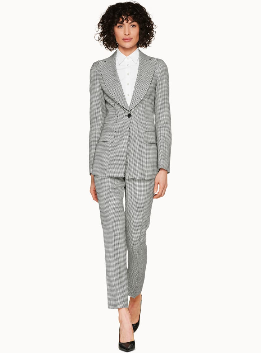Palermo Grey Houndstooth Jacket