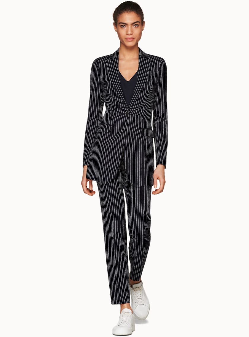 Cameron Navy Striped Jacket