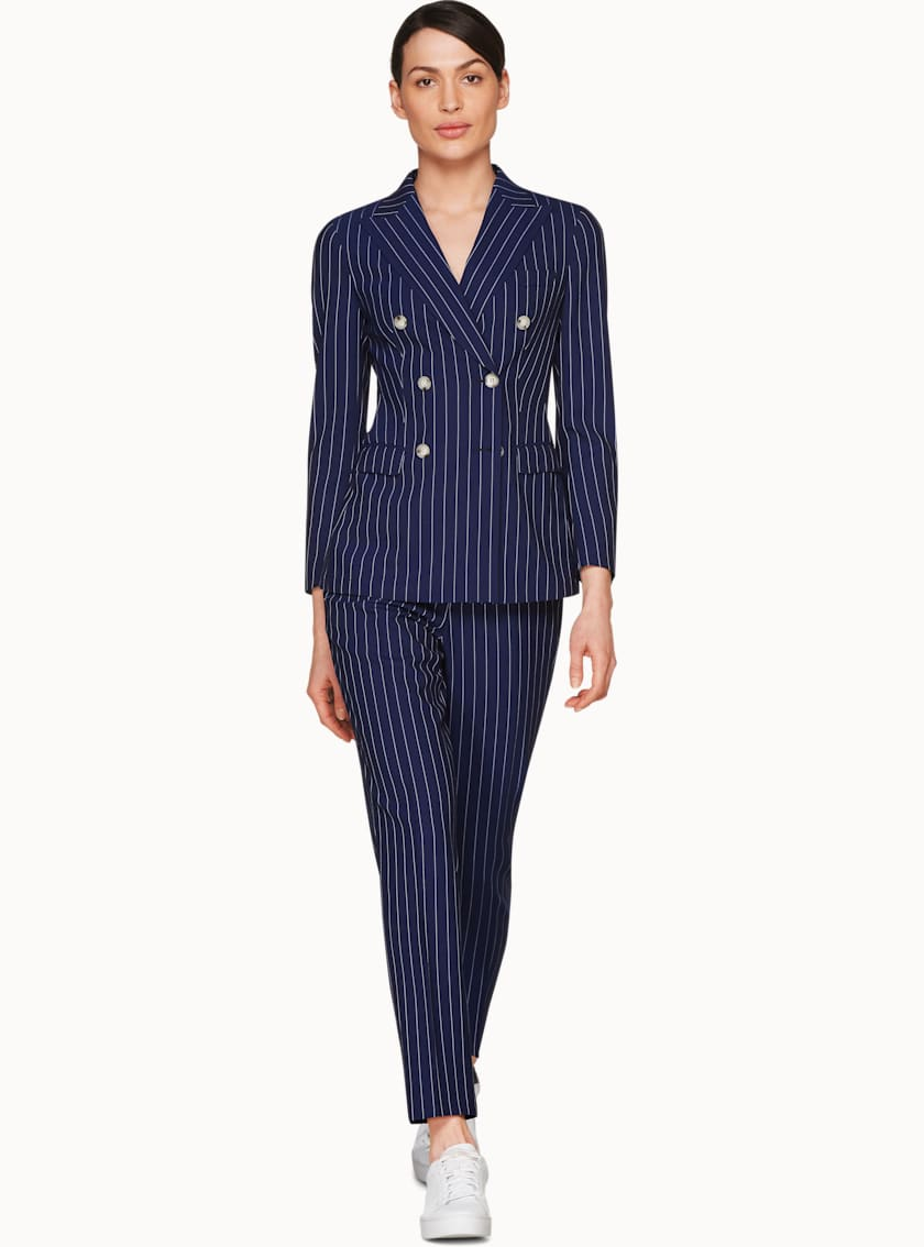 Cameron Blue Striped Suit