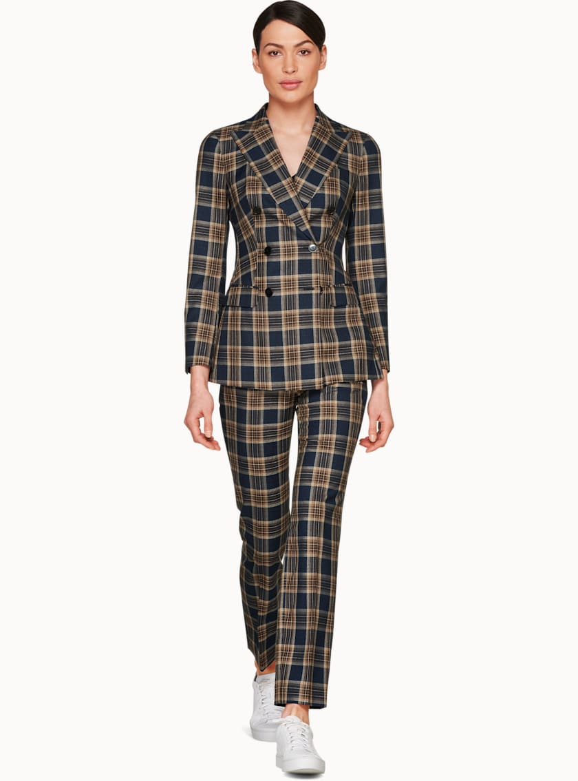 Cameron Navy Check Suit