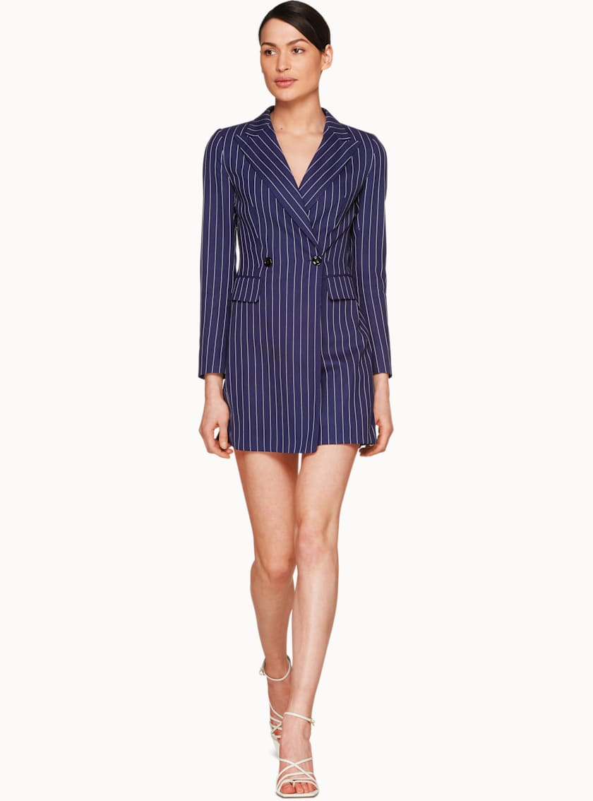 Trunk Navy Striped Playsuit